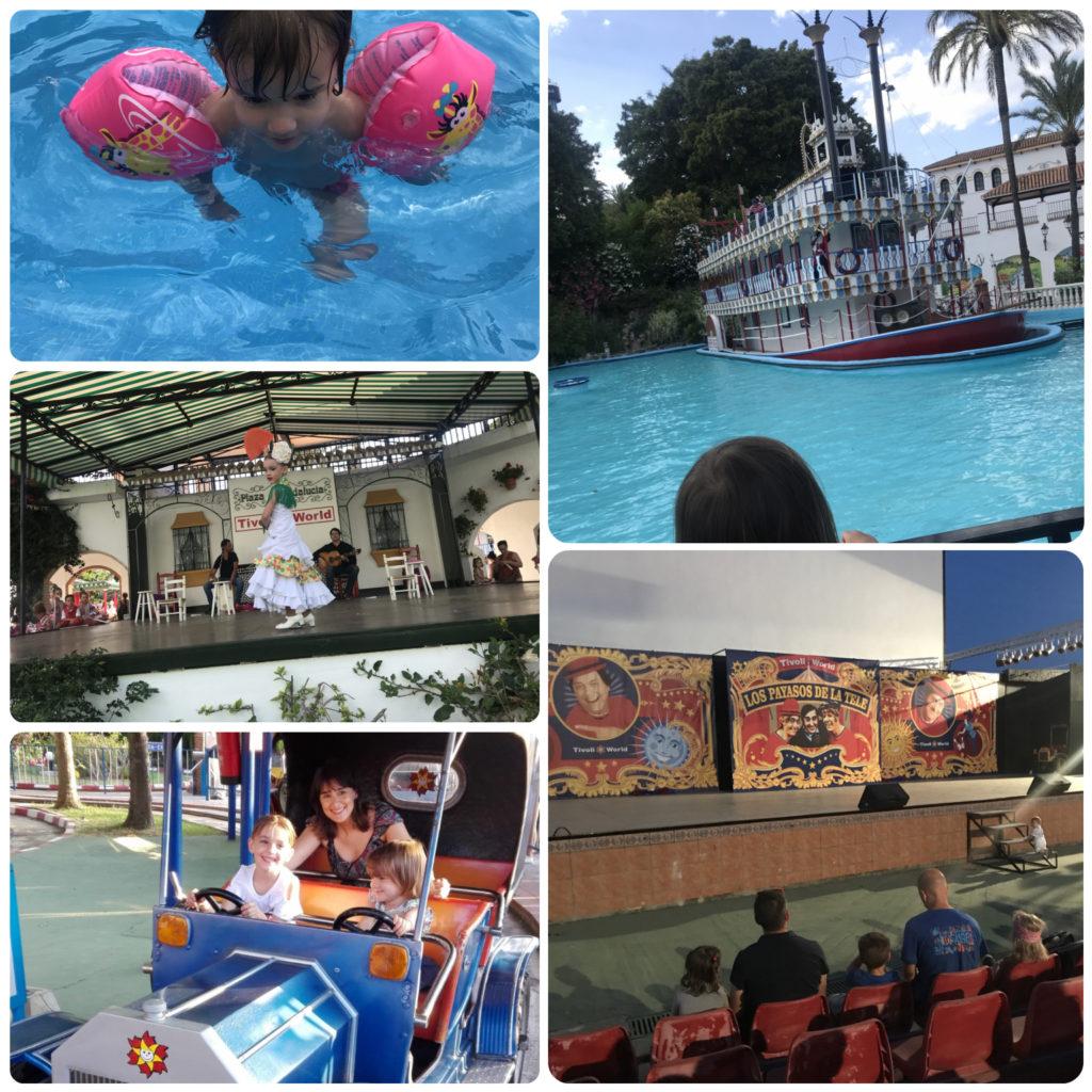 playa benalmadena tivoli atracciones parque payasos de la tele flamenco