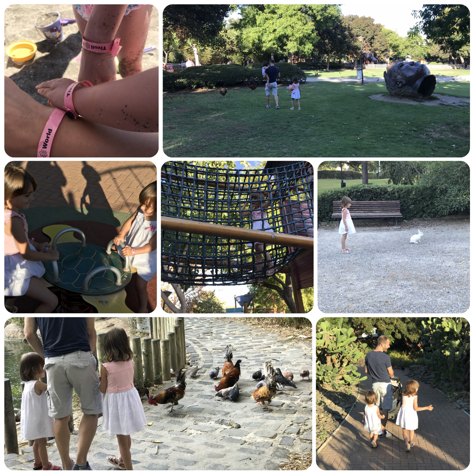 parque de las palomas, benalmadena, vacaciones, animales, en familia, playa, espetos